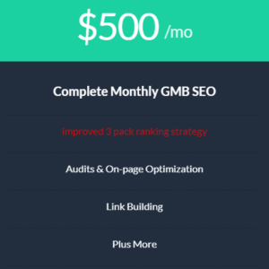 Local GMB SEO Monthly