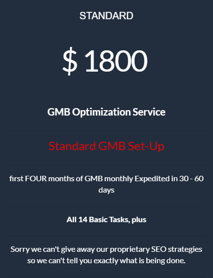 Local GMB SEO Standard